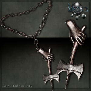 Meva Axt Necklace Rust Vendor